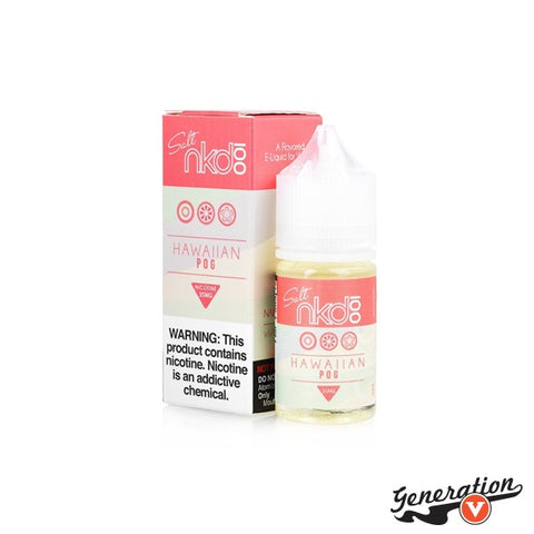 Hawaiian POG by Naked 100 Salt E-Liquid is a special nicotine salt formulation of the wildly popular Hawaiian POG, an exquisite composition formulates with aromatic passion fruit, juicy orange squeeze, and exotic guava.