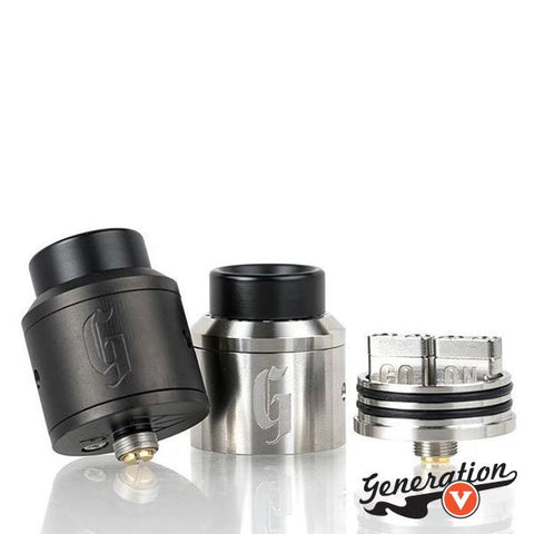 528 Custom Vapes has created a new, slightly wider Goon 25MM RDA. This rebuildable dripper has more build space vertically and horizontally than the Goon V1 and V1.5 with the Original V1 style airflow you have come to love.