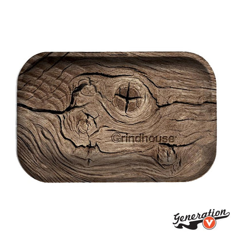 The Grindhouse Wood Metal Rolling Tray