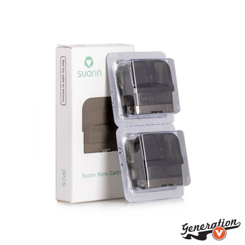 Suorin RENO Pods (2-Pack), a set of replacement pods crafted for the Suorin RENO Pod System