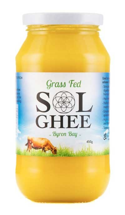 SOL Grass fed Ghee 450g