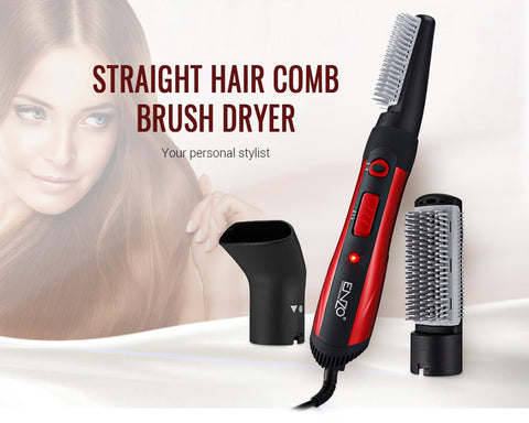 ENZO EN - 503 3-in-1 Hair Styling Rotating Hot Brush Dryer alipearl hair unice hair