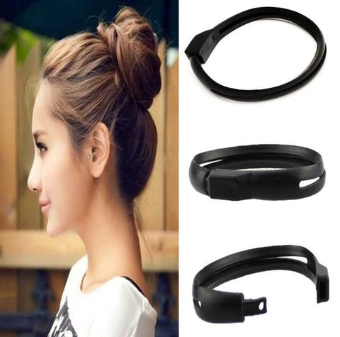 2 Pcs Donut Beauty Fashion Hair Holder French Styling Women DIY Bun Maker Hair Stick Clip Solid Black Flower For Girl Female