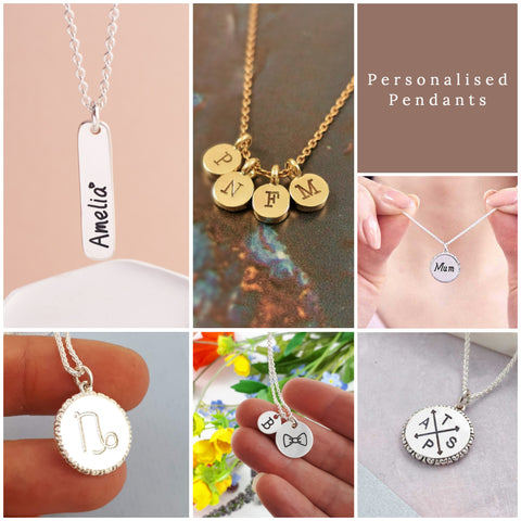 personalised pendants by Scarlett Jewellery