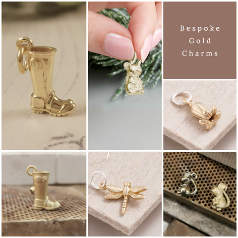 bespoke gold charms by Scarlett jewellery
