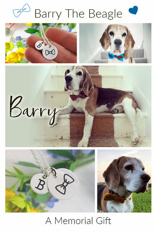 bespoke necklace in memorial of a beagle dog