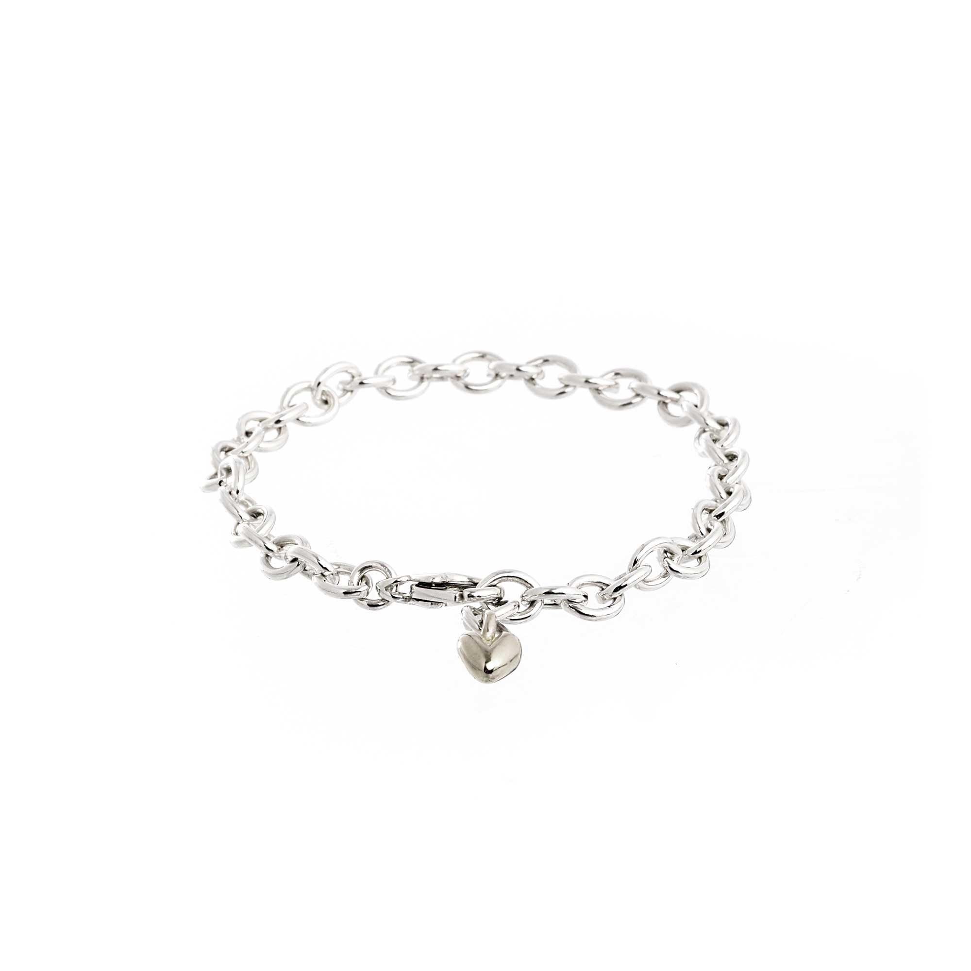 Mini Lifetime Silver Heart Charm Bracelet