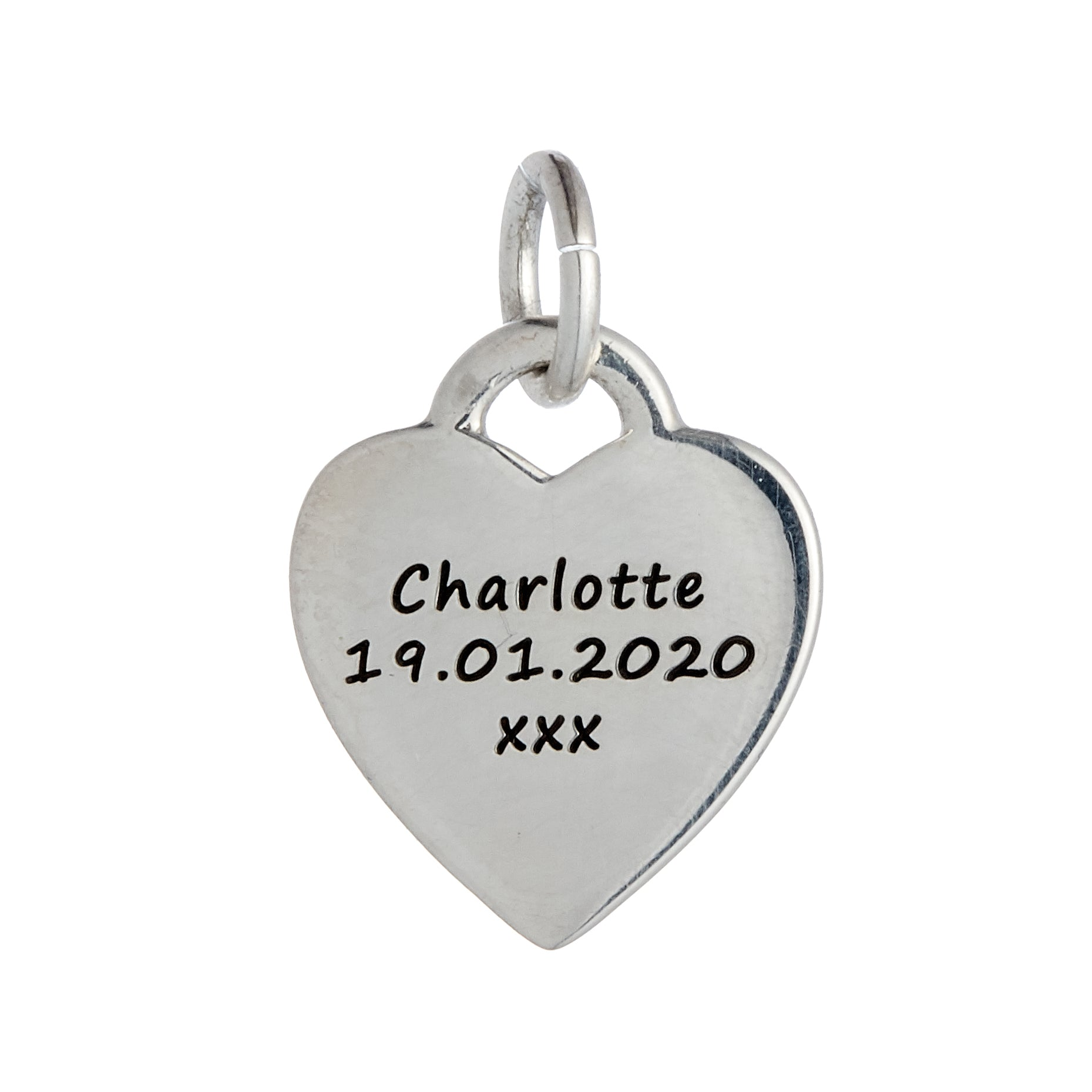 Baby Footsteps Personalised Silver Charm