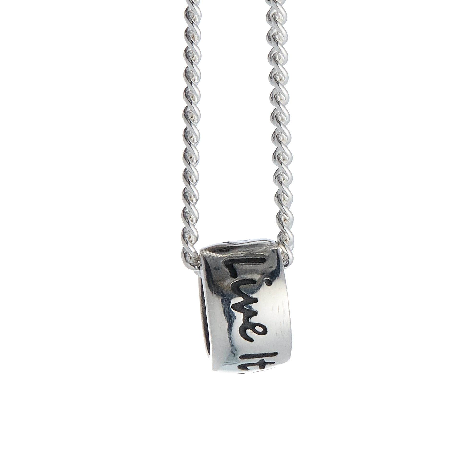 One Life, Live It! Silver Necklace