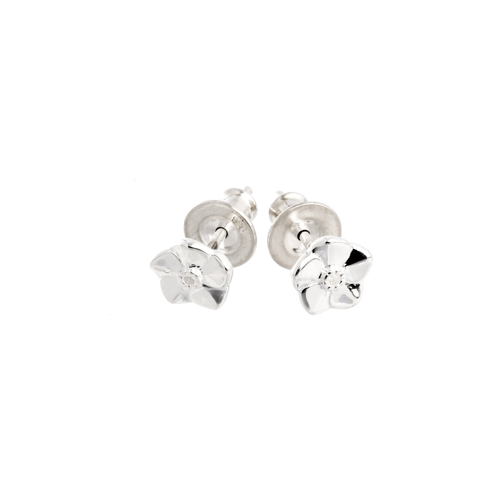 Forget-Me-Not Tiny Silver Stud Earrings