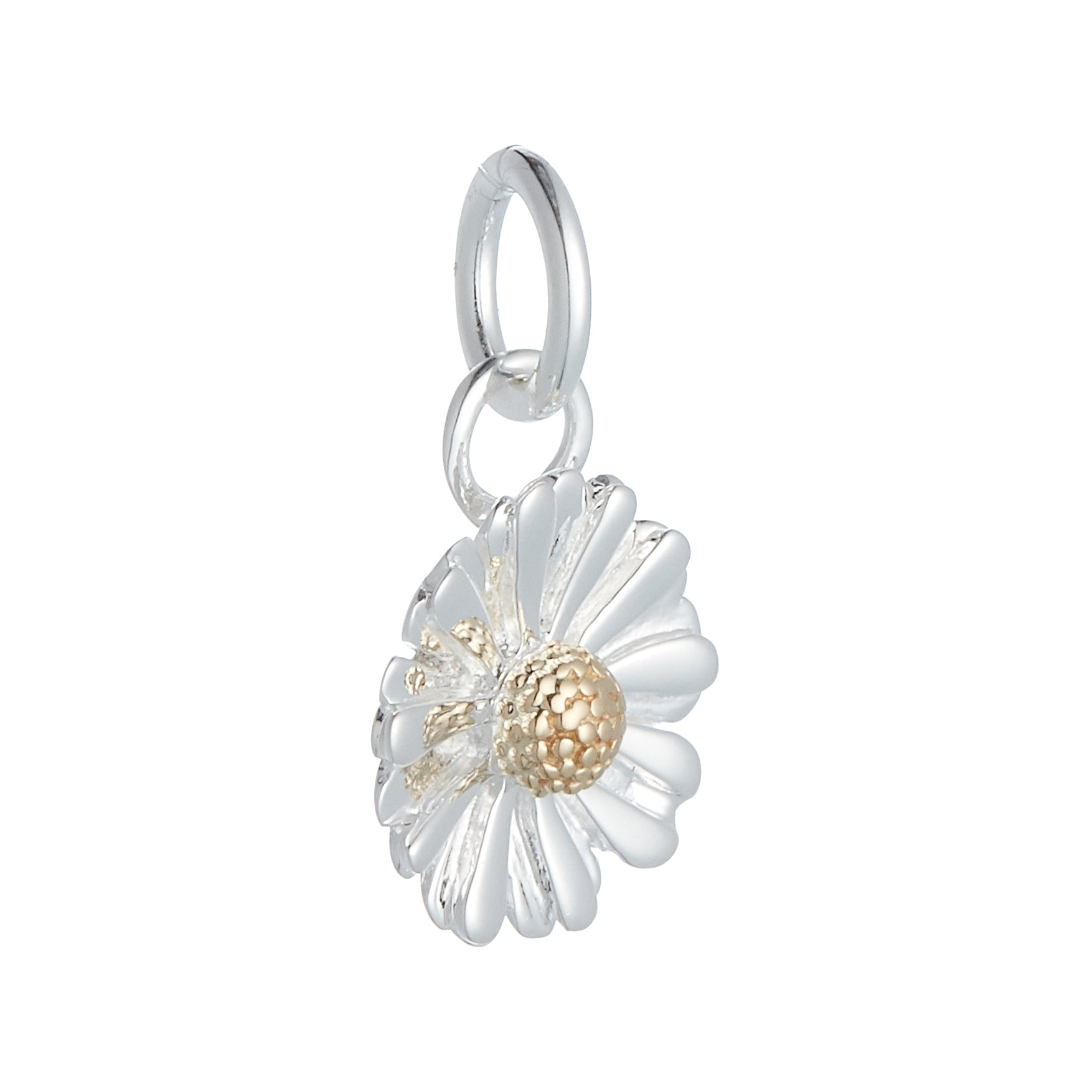 Daisy Flower Silver & Gold Charm