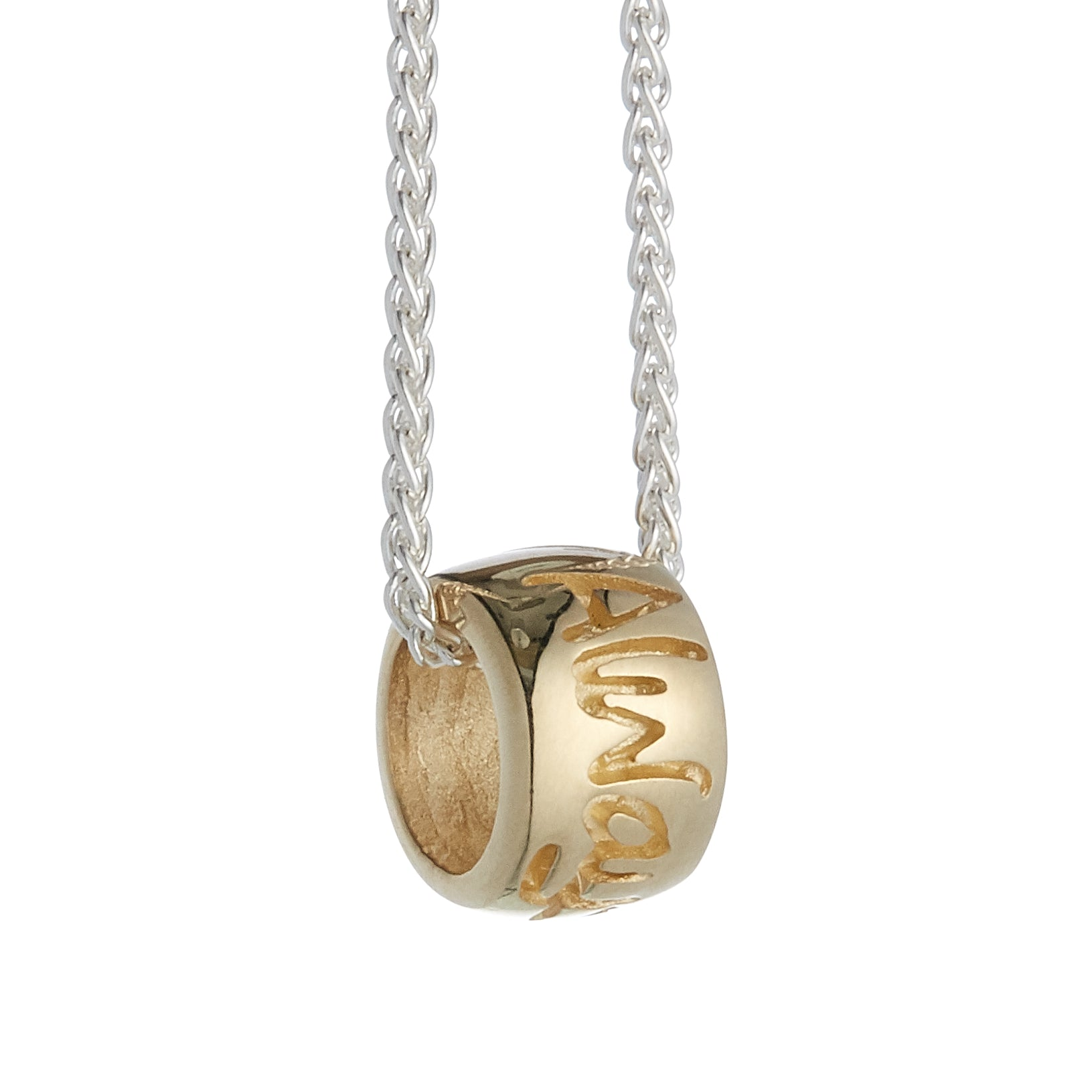 Always In My Heart Gold Mojo Charm Bead
