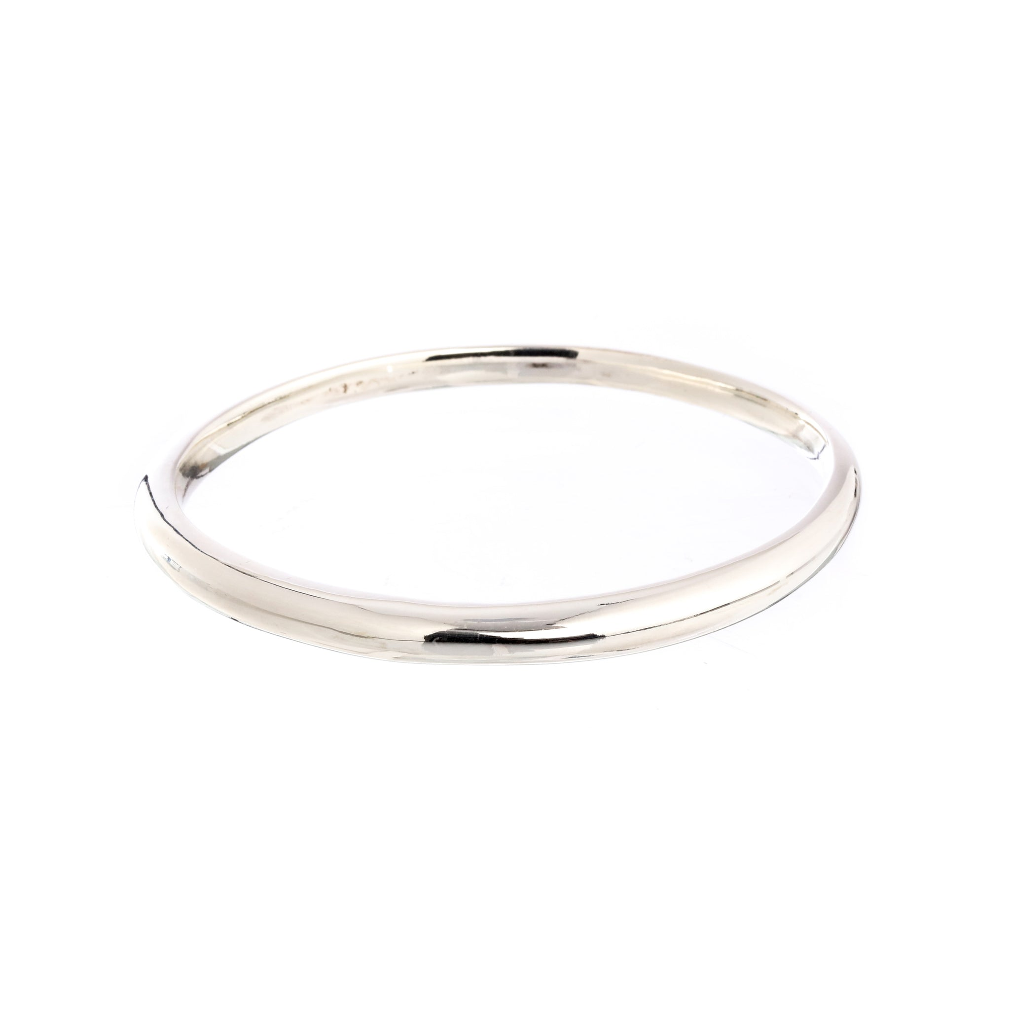 Eclipse Silver Oval Bangle