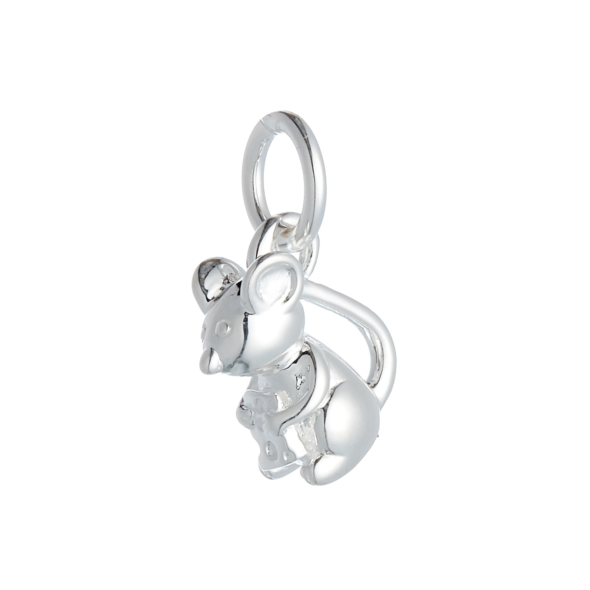Mouse Silver Charm