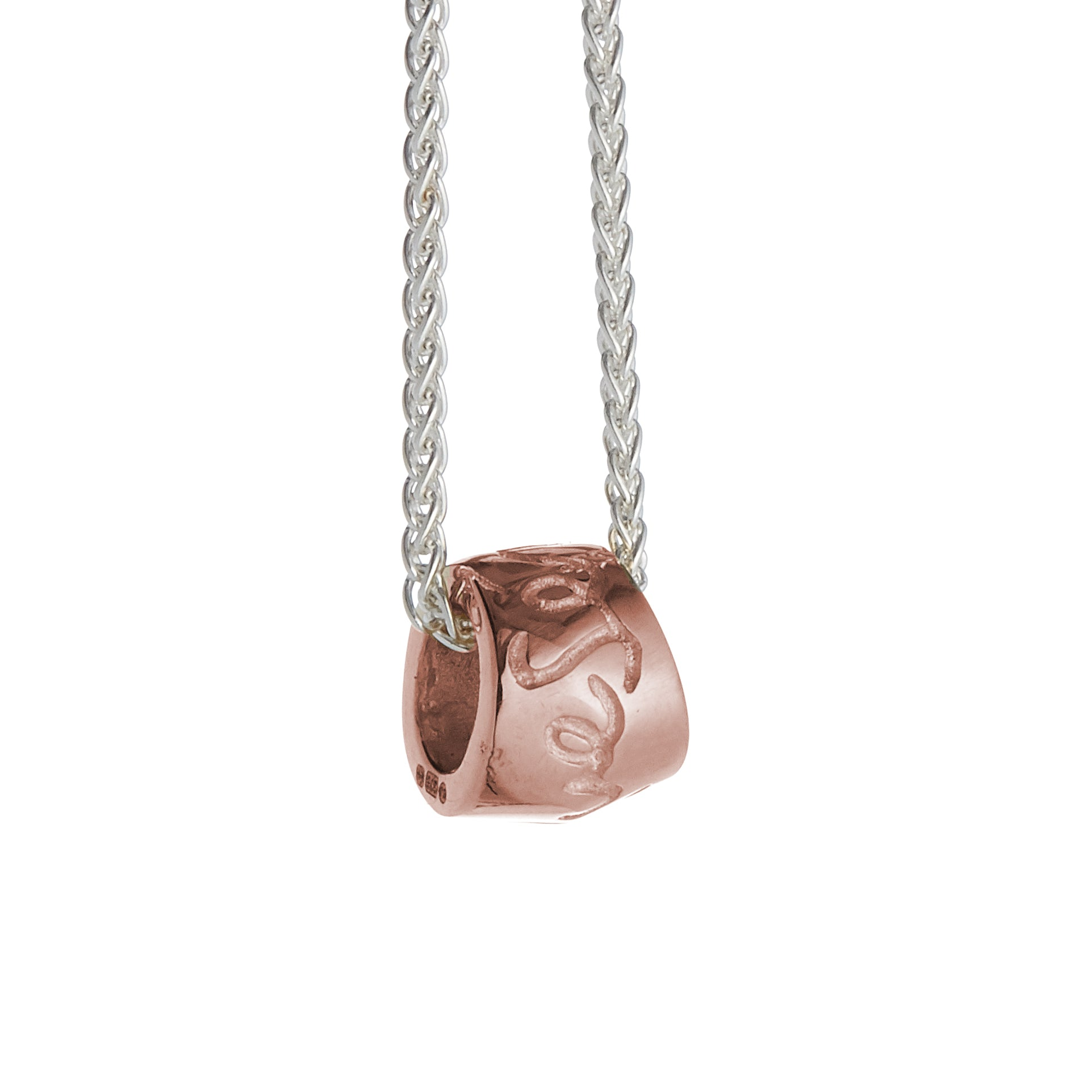 Que Sera Silver & Rose Gold Necklace