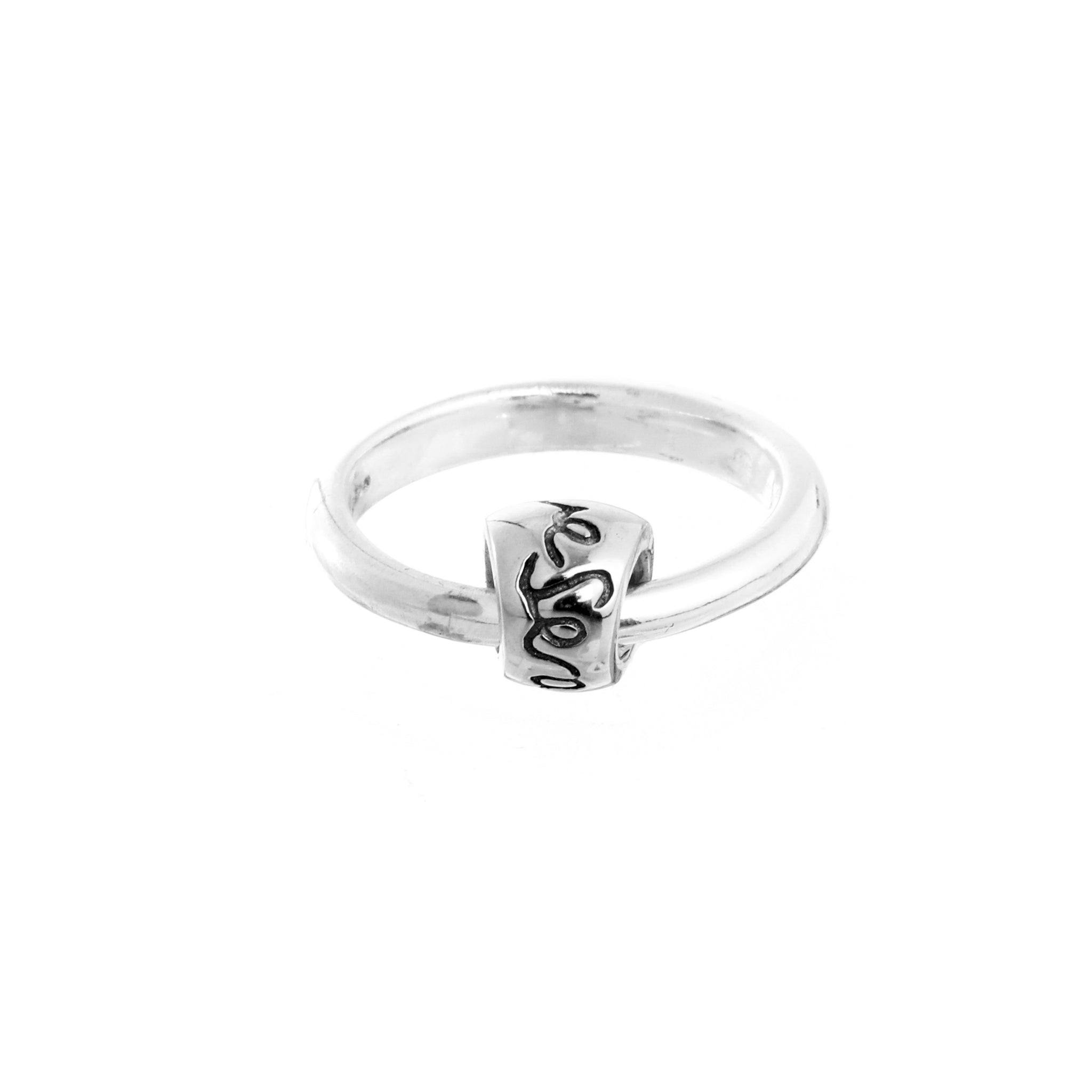 Que Sera Silver Charm Ring