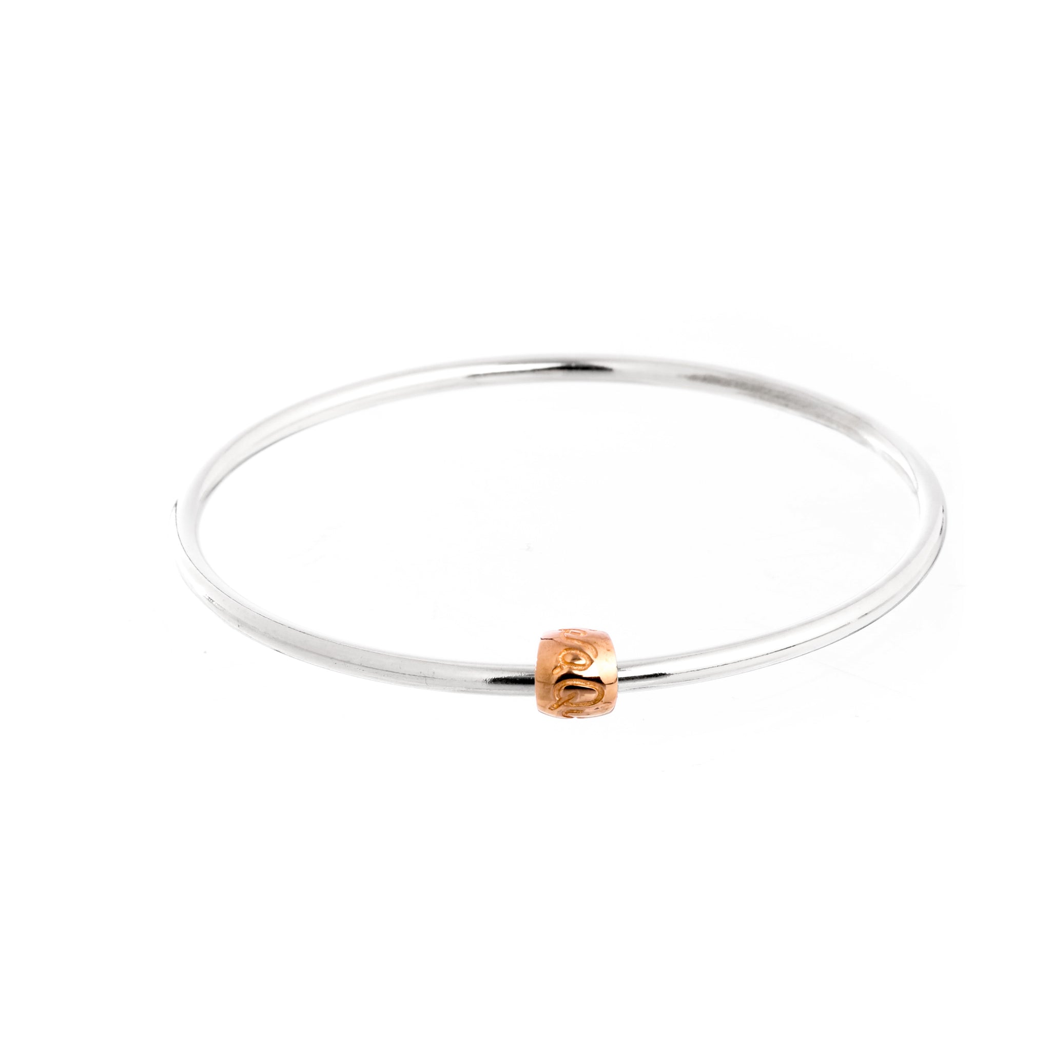 Que Sera Silver & Rose Gold Bangle