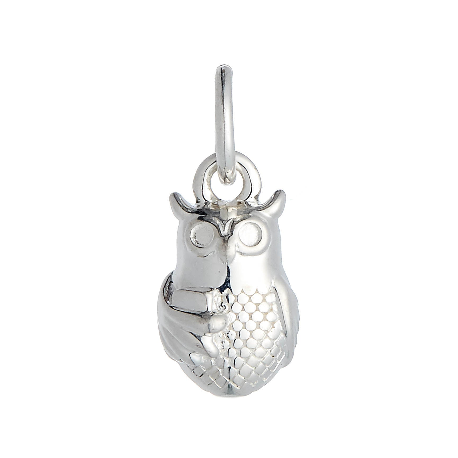 Owl Personalised Silver Charm