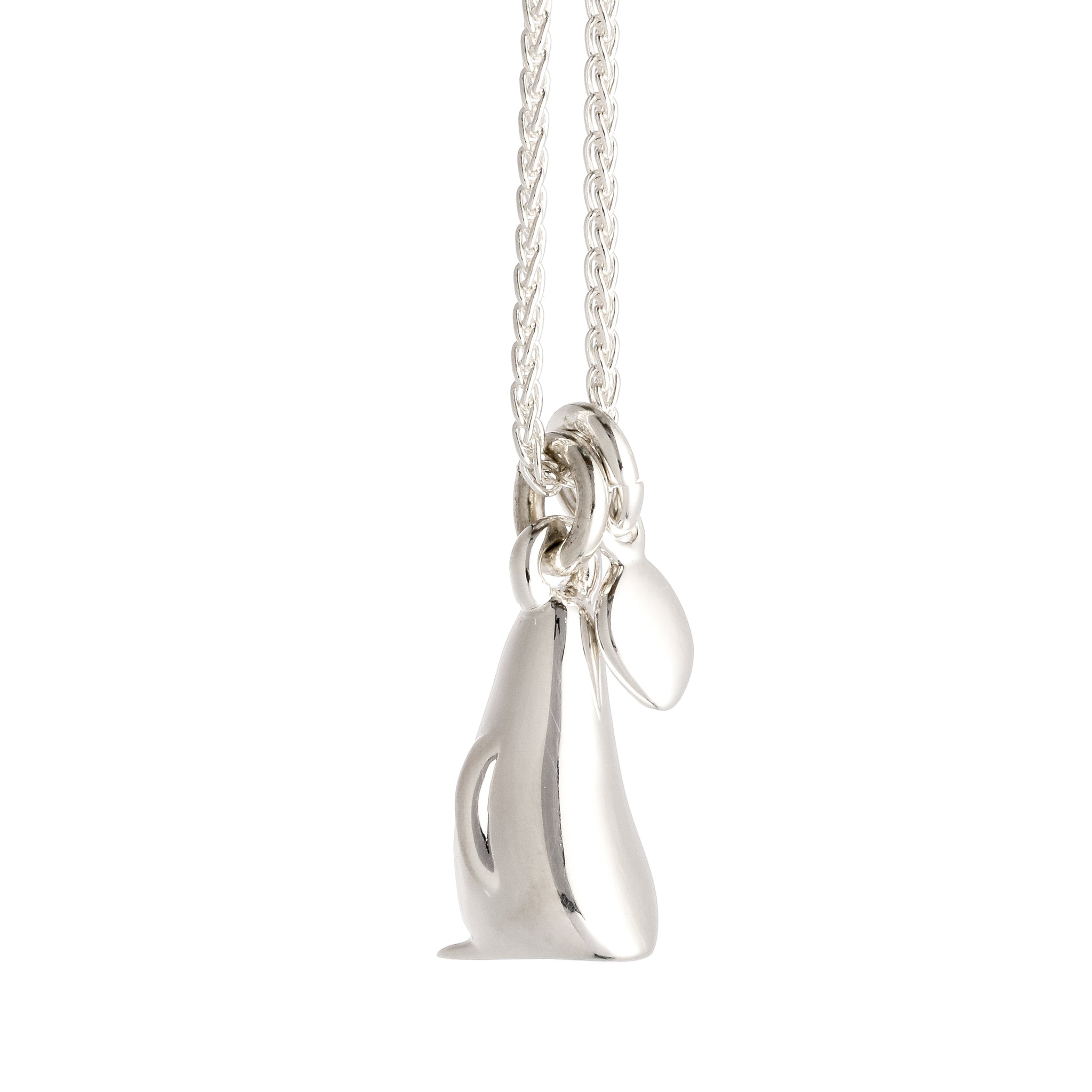 Penguin & Pebble Love Token Personalised Silver Necklace