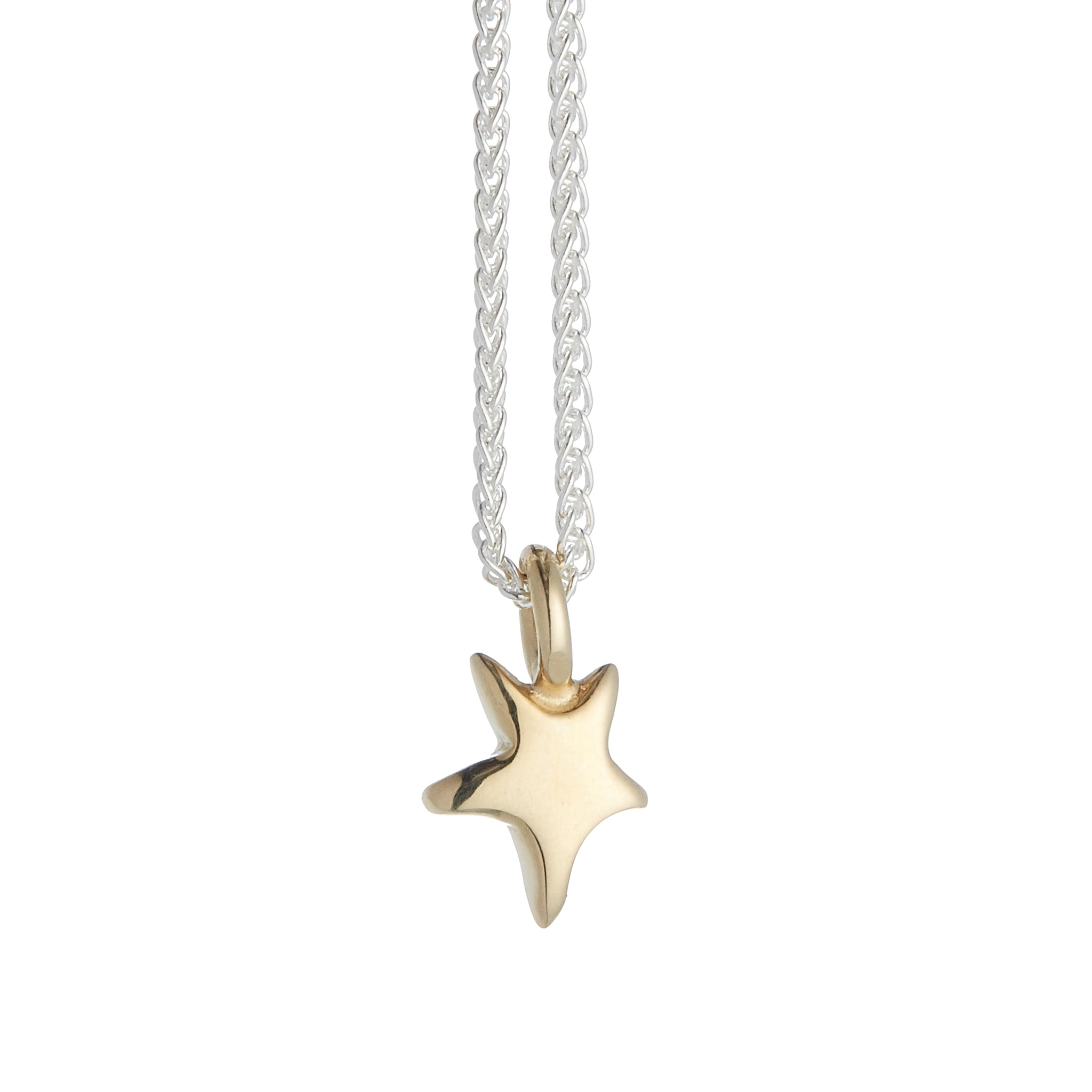 Stardust Solid Silver & Gold Necklace
