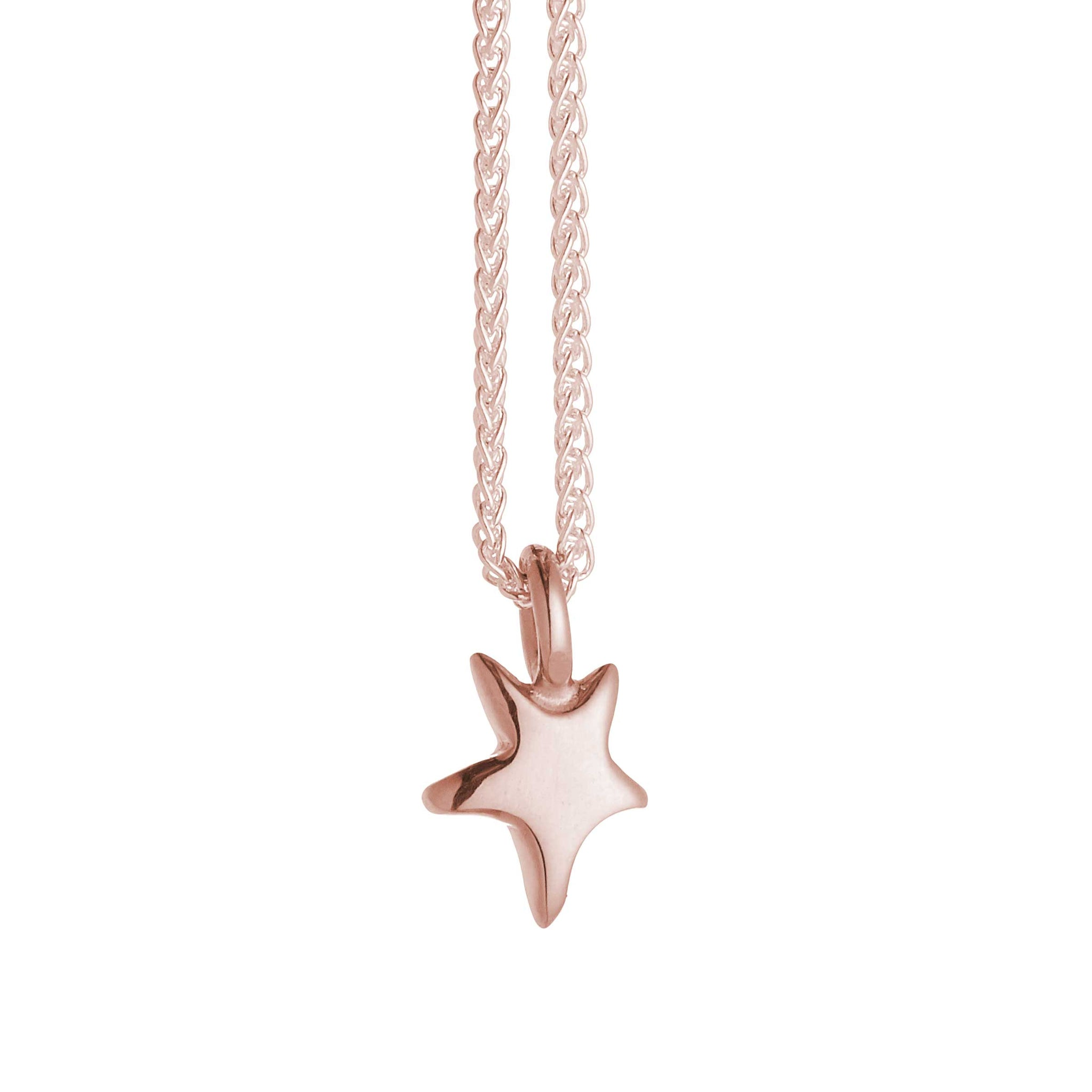 Stardust Solid Rose Gold Necklace
