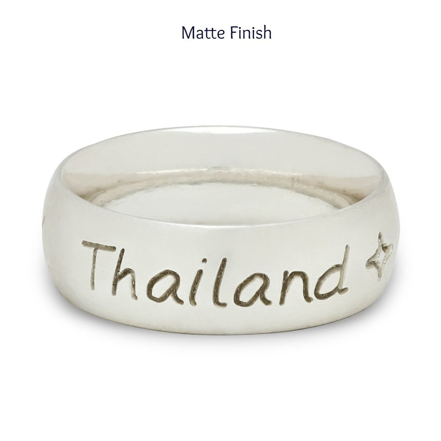 Thailand Personalised Mens Ring Or Womens Thumb Ring, unique travel present