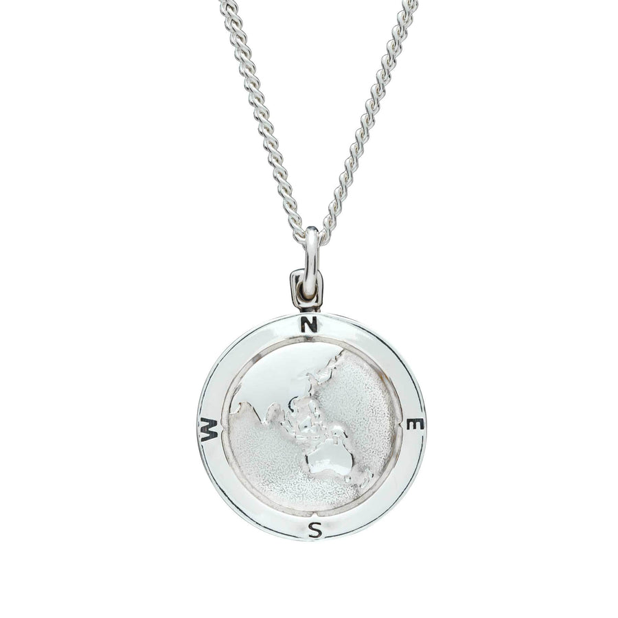 Asia Map Globe Alternative Saint Christopher For Men