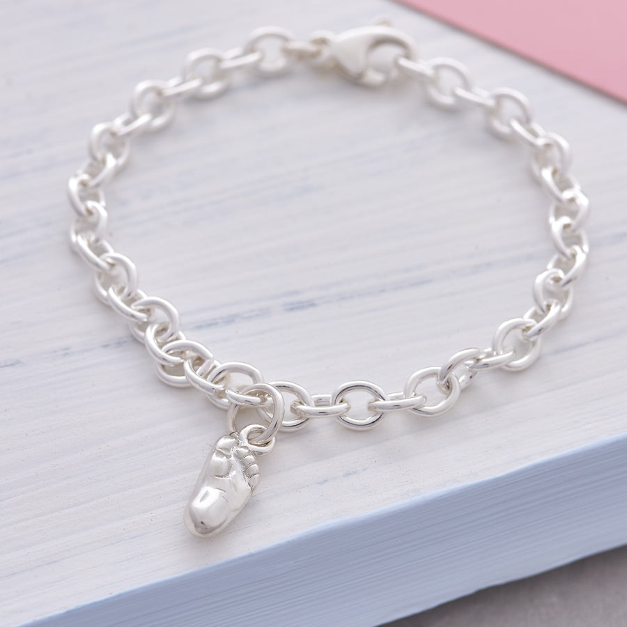 New Baby Silver Charm For Bracelet - gift for new mum