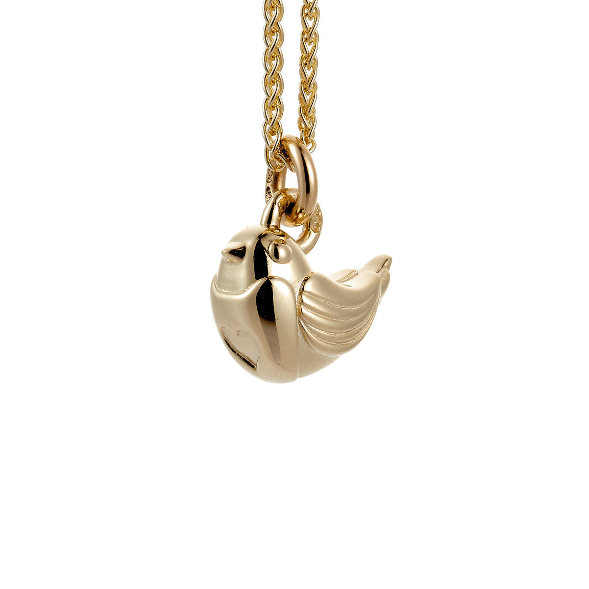 Robin Solid Gold Charm
