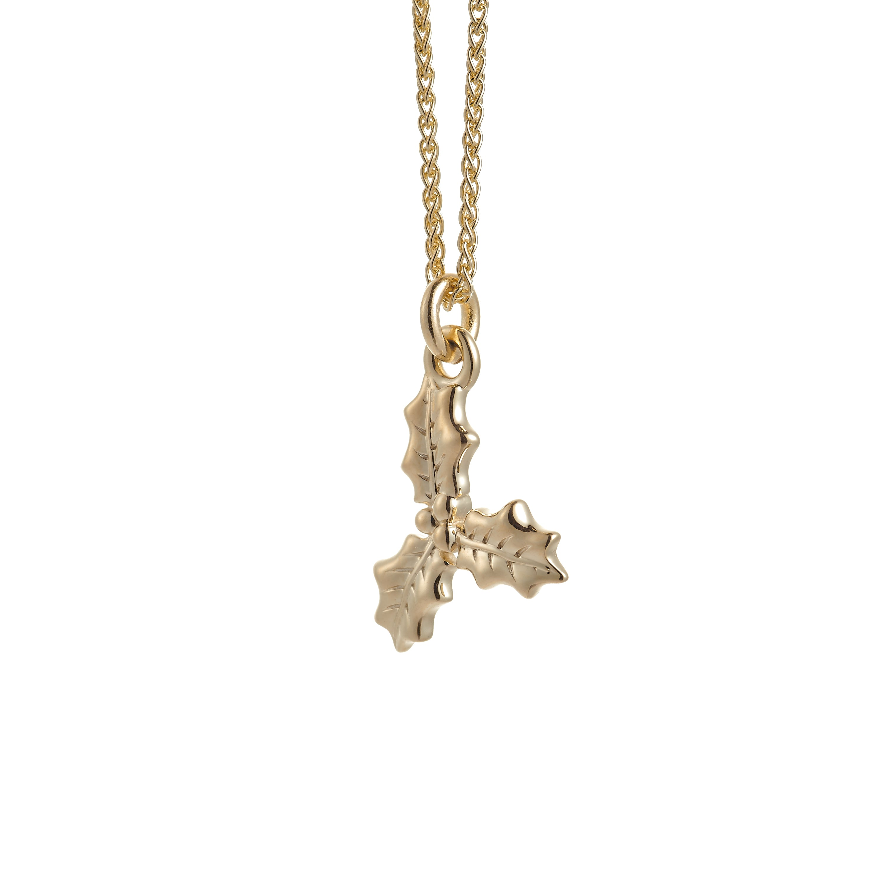 Holly Solid Gold Necklace