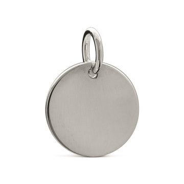 plain silver disc tag charm engraved
