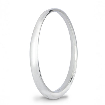 Eclipse Chunky Oval Silver Bangle for smaller hands Scarlett Jewellery