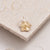 Solid 9 carat yellow gold forget me not flower charm Scarlett Jewellery