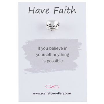 Have Faith Silver Mojo Charm Bead