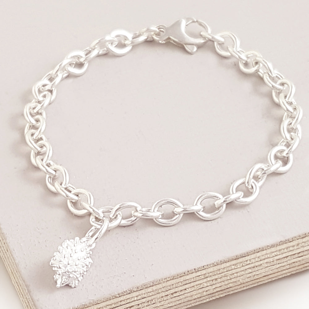 Hedgehog bracelet charm for traditional and fits pandora by Scarlett Jewellery