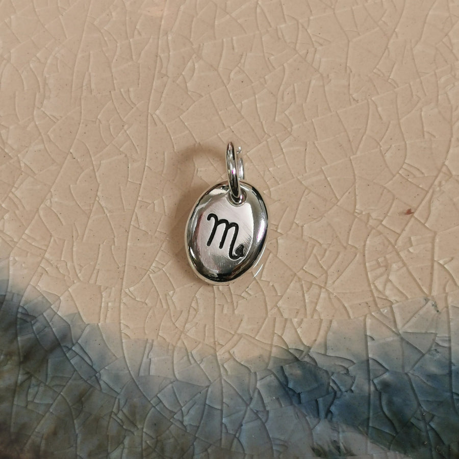 scorpio star sign astrological chart silver charm for bracelet