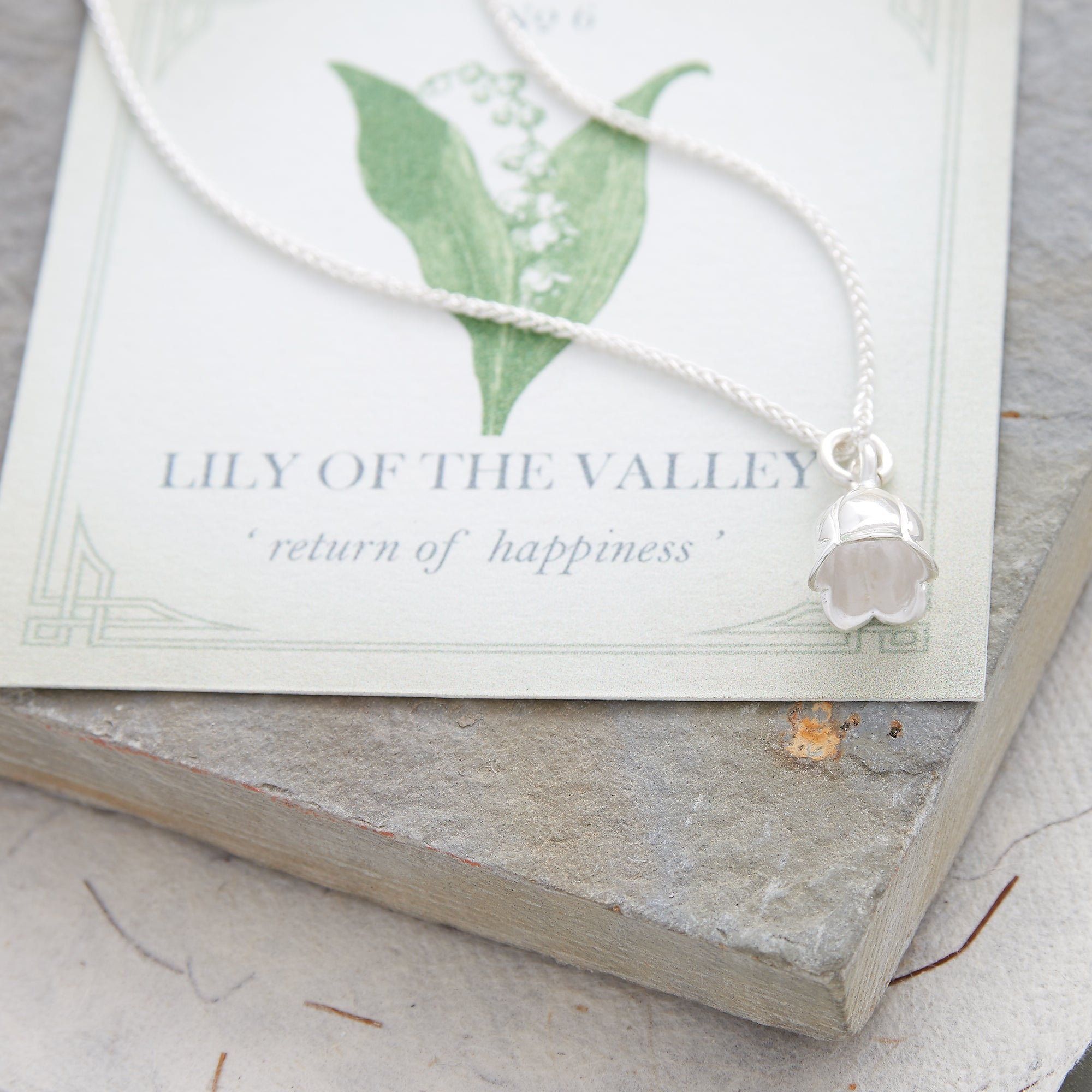 Lily Of The Valley Flower Silver Charm For Bracelet or Necklace from Scarlett Jewellery