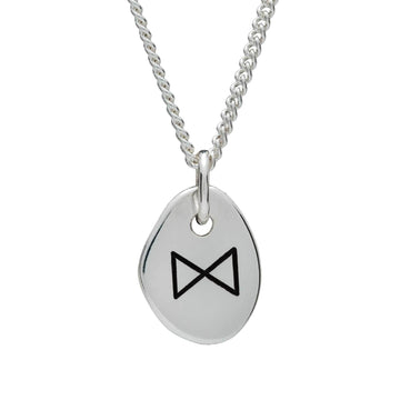 Travel Rune Dagaz Enlightenment - Silver pendant for men & women - ideal travel gift