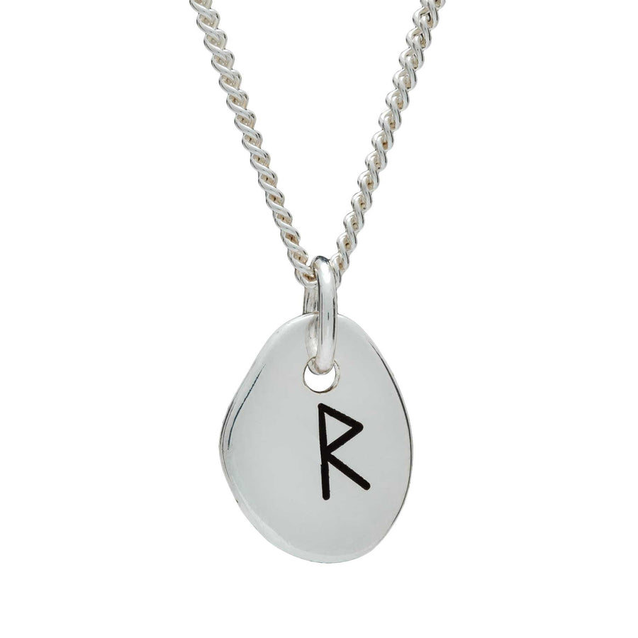 Travel Rune Raido - Silver pendant for men & women - ideal travel gift