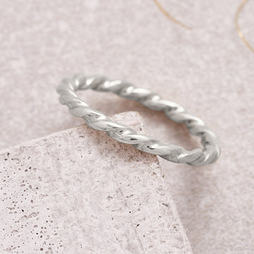 Twist Silver Stacking Ring