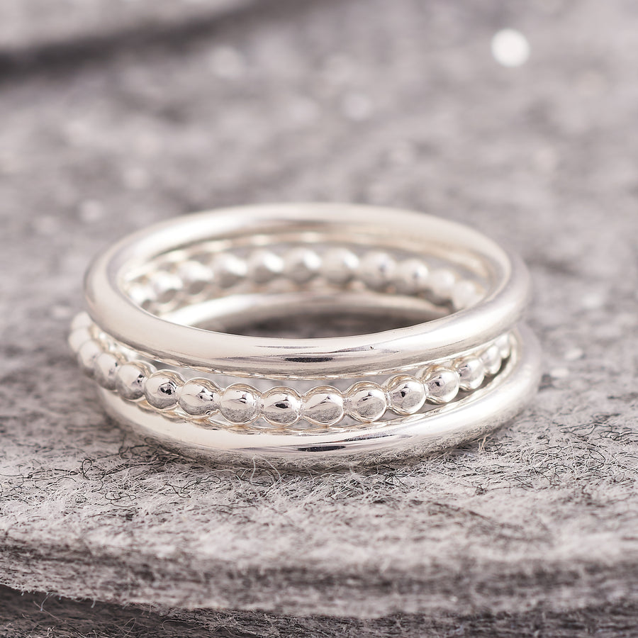 Set of three stacking rings scarlett jewellery