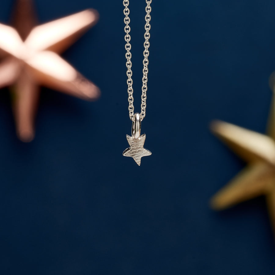 Small silver star pendant for teens young girls handmade designer Scarlett Jewellery