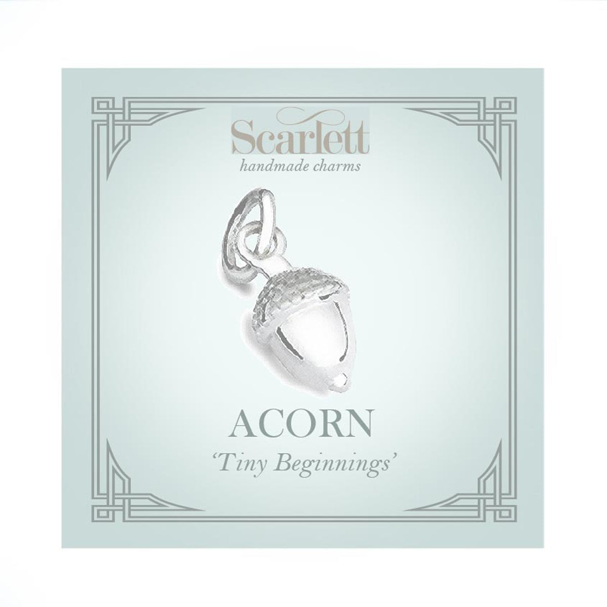 Acorn Solid Gold Charm