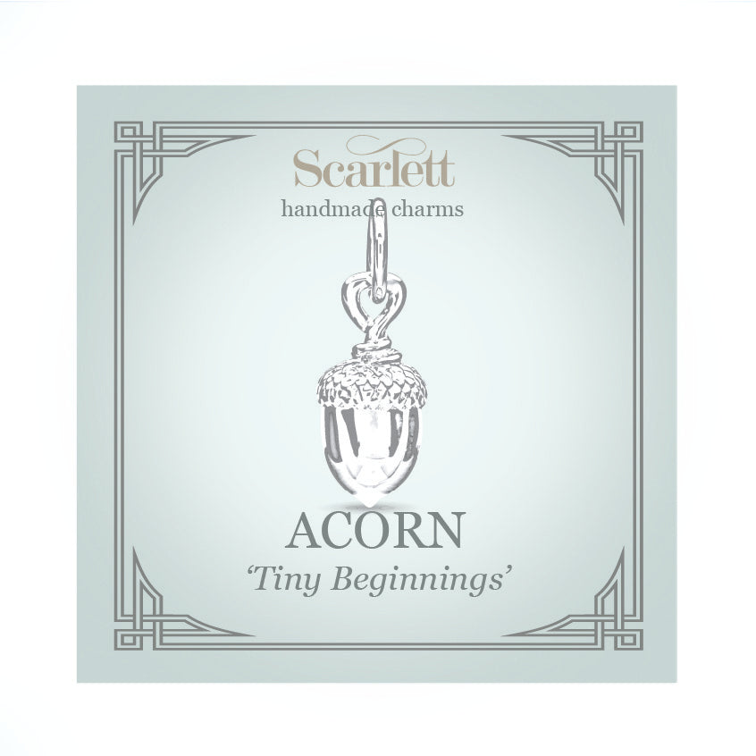 Tiny Acorn Solid Gold Charm