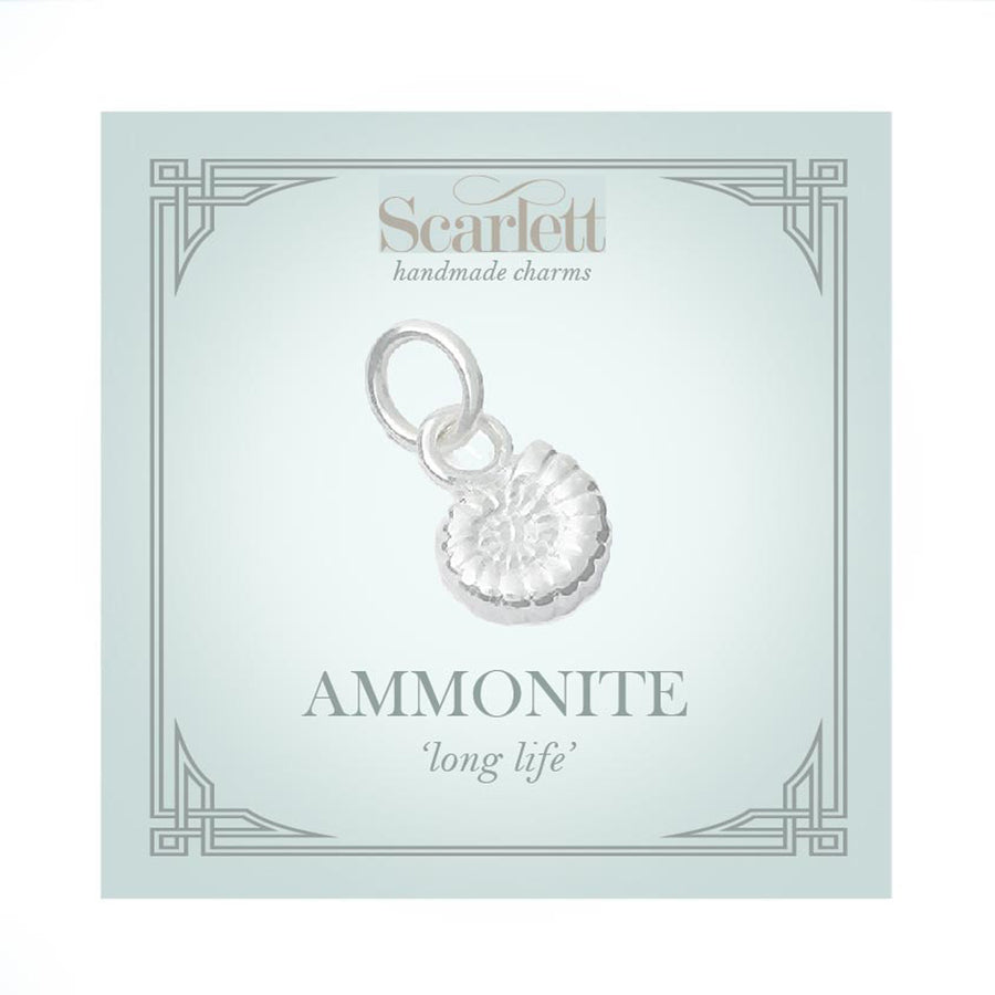 Ammonite Fossil Silver Charm