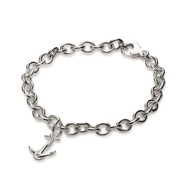 Anchor Silver Charm Bracelet Nautical Jewellery Scarlett