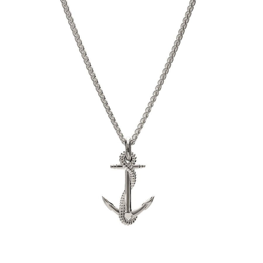 Anchor silver charm necklace nautical jewelry Scarlett Jewellery Brighton