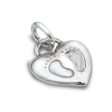 Baby Footsteps Personalised Silver Charm For New Mum Scarlett Jewellery