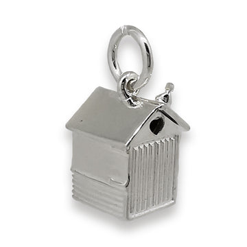 Beach Hut Personalised Silver Charm