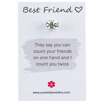 Best Friend Silver Charm Scarlett Jewellery